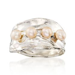 4mm Cultured Pearl Ring in Sterling Silver, , default