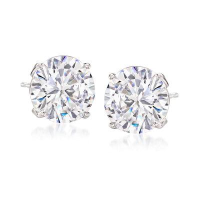 5.00 ct. t.w. CZ Stud Earrings in Sterling Silver, , default