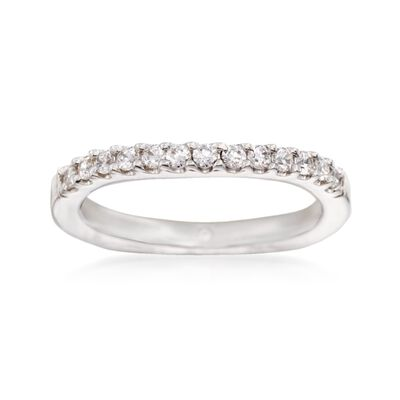 Gabriel Designs .29 ct. t.w. Diamond Curved Wedding Ring in 14kt White Gold, , default