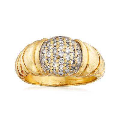 C. 1990 Vintage David Yurman .45 ct. t.w. Diamond Ring in 18kt Yellow Gold, , default