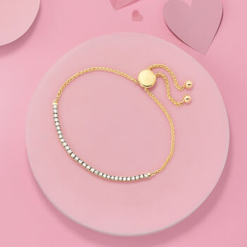 1.00 ct. t.w. Diamond Bolo Bracelet in 14kt Yellow Gold, , default