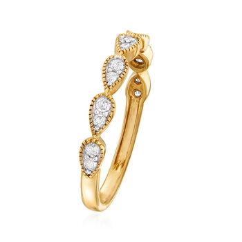 .25 ct. t.w. Diamond Teardrop Ring in 14kt Yellow Gold