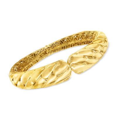 Italian 18kt Gold Over Sterling Silver Cuff Bracelet