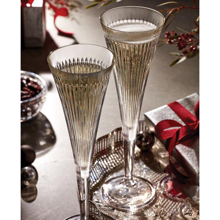 "Reed & Barton ""New Vintage"" Set of 2 Hanson Champagne Flutes"