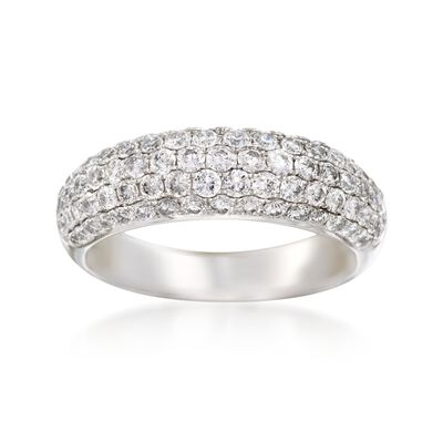1.35 ct. t.w. Multi-Row Diamond Ring in 14kt White Gold