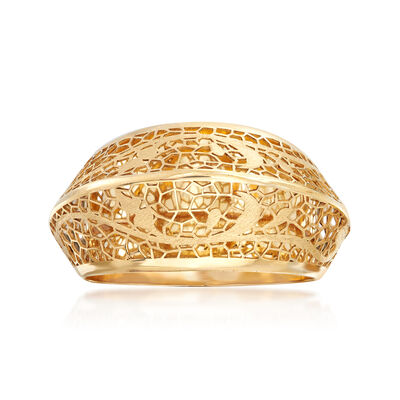 Italian 14kt Yellow Gold Filigree Vine Ring