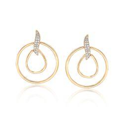 .10 ct. t.w. Diamond Double Doorknocker Earrings in 14kt Yellow Gold , , default