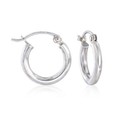 2mm Sterling Silver Huggie Hoop Earrings, , default