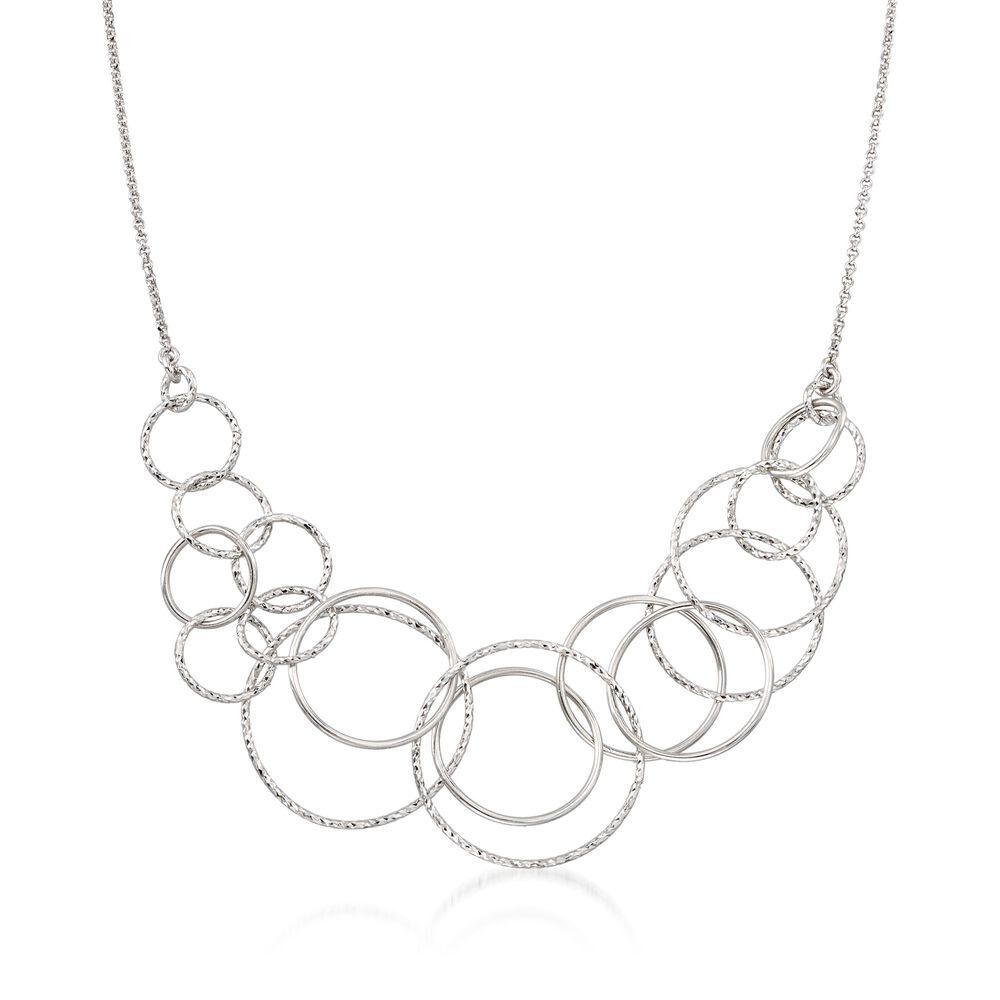 ba0c87533 Italian Sterling Silver Diamond-Cut Multi-Circle Necklace | Ross-Simons