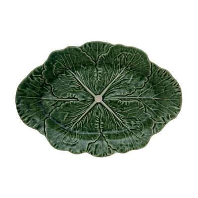 "Bordallo Pinheiro ""Cabbage"" Medium Leaf Oval Platter, , default"