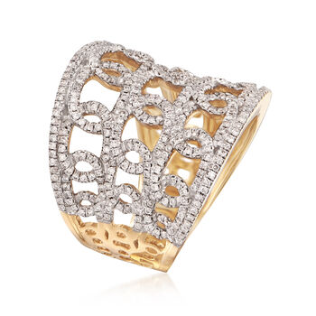1.00 ct. t.w. Diamond Multi-Loop Ring in 14kt Yellow Gold