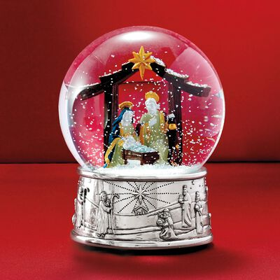 Reed & Barton Nativity Musical Snow Globe, , default