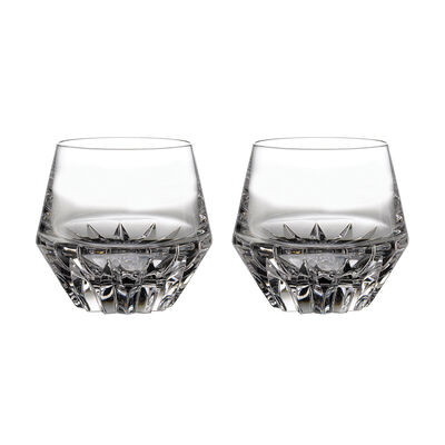 "Waterford Crystal ""Irish Dog Madra"" Set of Two Double Old Fashioned Glasses, , default"