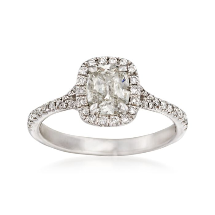 Henri Daussi 1.16 ct. t.w. Diamond Engagement Ring in 14kt White Gold, , default