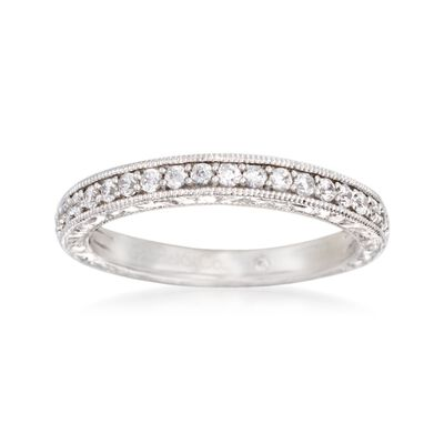 Gabriel Designs .37 ct. t.w. Diamond Wedding Ring in 14kt White Gold, , default