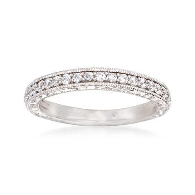 Gabriel Designs .37 ct. t.w. Diamond Wedding Ring in 14kt White Gold, , default