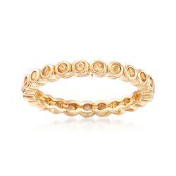 .90 ct. t.w. Bezel-Set Citrine Eternity Band in 18kt Gold Over Sterling, , default