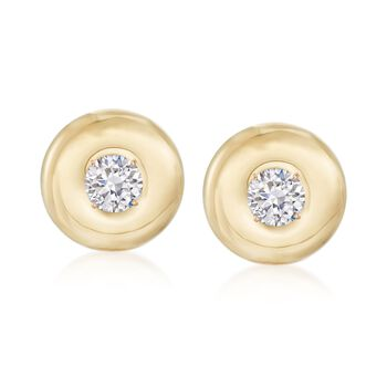 14kt Yellow Gold Disc Earring Jackets, , default
