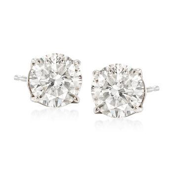 2.00 ct. t.w. Diamond Stud Earrings in 14kt White Gold, , default