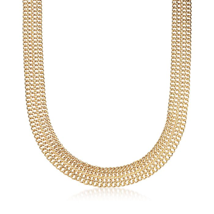 Italian 18kt Yellow Gold Infinity-Link Necklace, , default