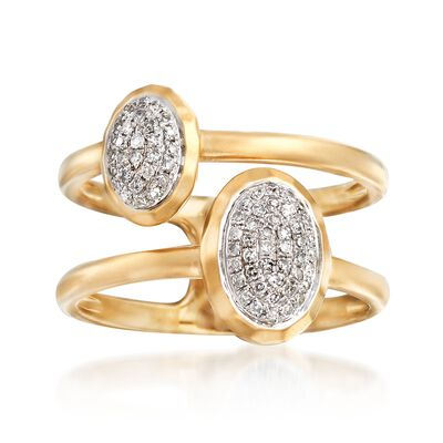 .23 ct. t.w. Double Bezel-Set Diamond Ring in 14kt Yellow Gold, , default