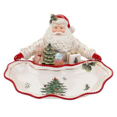 "Spode ""Christmas Tree Gold"" Figural Santa Dish"