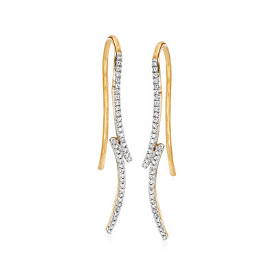 .10 ct. t.w. Diamond Curve Earrings in 14kt Yellow Gold