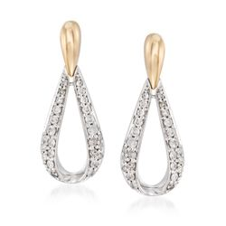 .51 ct. t.w. Diamond Open Teardrop Earrings in 14kt Two-Tone Gold, , default