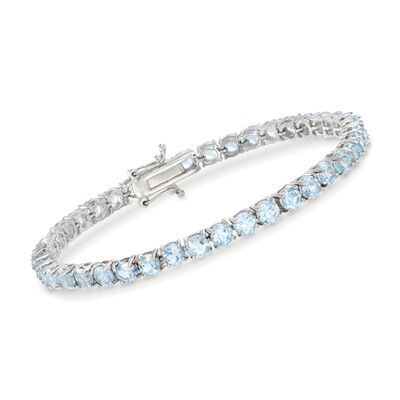 9.00 ct. t.w. Blue Topaz Tennis Bracelet in Sterling Silver, , default