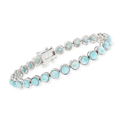 5mm Larimar Tennis Bracelet in Sterling Silver, , default