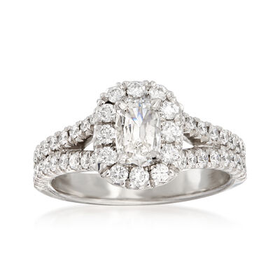 Henri Daussi 1.23 ct. t.w. Diamond Engagement Ring in 18kt White Gold