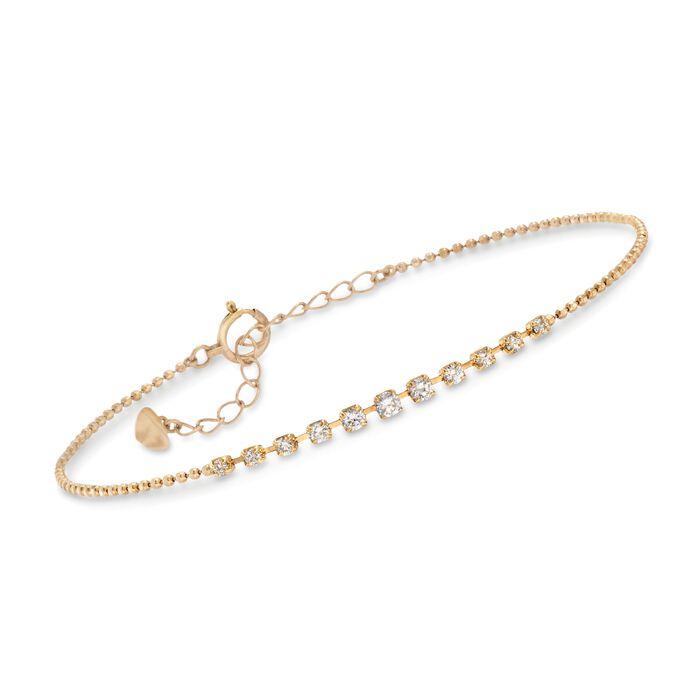 .30 ct. t.w. Diamond Graduated Bracelet in 18kt Yellow Gold