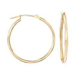 15mm 14kt Yellow Gold Small Hoop Earrings, , default