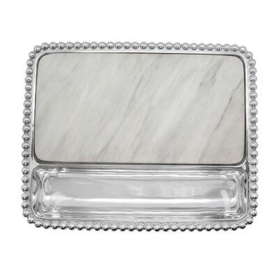 Mariposa Pearled Marble Charcuterie Board, , default
