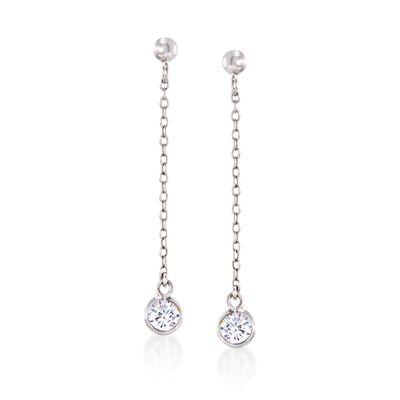 .32 ct. t.w. CZ Drop Earrings in Sterling Silver, , default