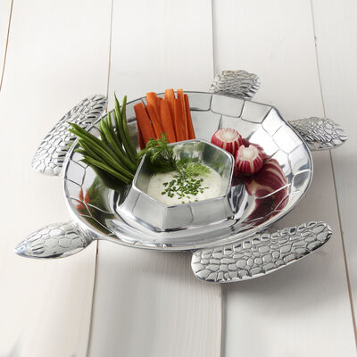 Wilton Armetale Turtle Chip and Dip Server, , default