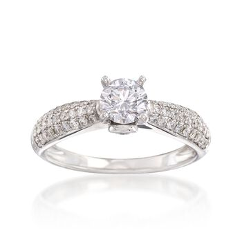 .96 ct. t.w. Diamond Ring in 14kt White Gold, , default