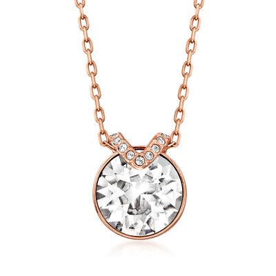"""Swarovski Crystal """"Bella"""" Crystal Necklace in Rose Gold Plate"""