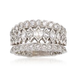 C. 1980 Vintage 2.00 ct. t.w. Diamond Ring in Platinum. Size 8, , default
