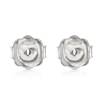 Italian 14kt White Gold Large 7mm Earring Backings, , default