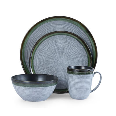 "Mikasa ""Willa"" Green 16-pc. Service for 4 Dinnerware Set, , default"
