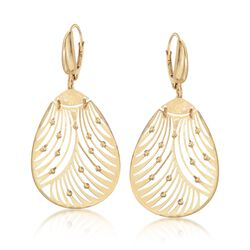 Italian 18kt Yellow Gold Openwork Drop Earrings, , default