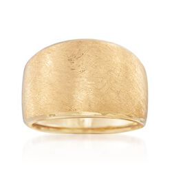 Italian 18kt Yellow Gold Wide Ring, , default