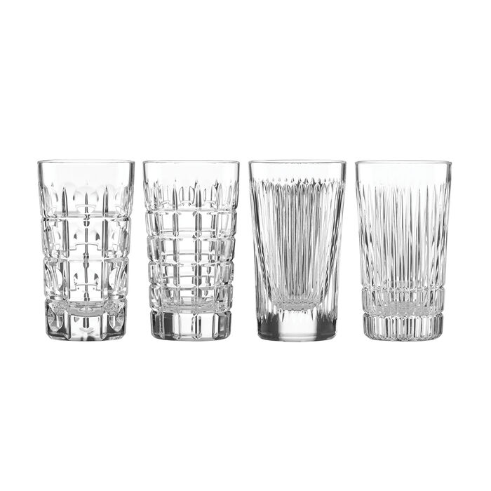 "Reed & Barton ""New Vintage"" Set of 4 Highball Glasses"