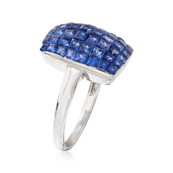 4.40 ct. t.w. Sapphire Ring in 14kt White Gold. Size 8, , default