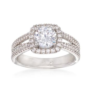 Gabriel Designs .55 ct. t.w. Diamond Engagement Ring Setting in 14kt White Gold, , default