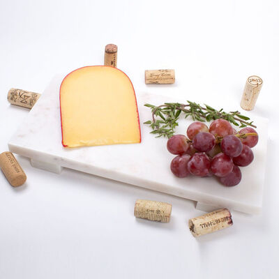 Large White Marble Cheese Board, , default