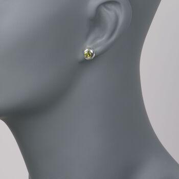 "Zina Sterling Silver ""Ripples"" 1.00 ct. t.w. Peridot Stud Earrings, , default"