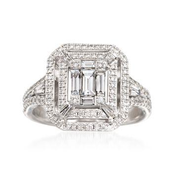 Simon G. .98 ct. t.w. Diamond Ring in 18kt White Gold, , default