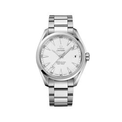Omega Seamaster Aqua Terra Men's 41.5mm Stainless Steel Watch With Silver Dial, , default